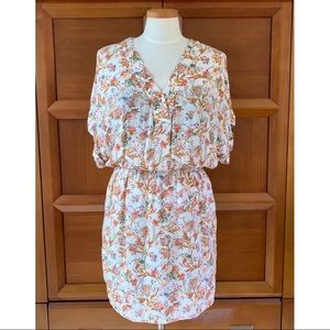 Zara Wild Flower Floral V-neck Dress